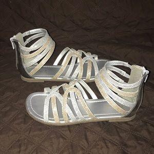 Girls Glitter Sandals